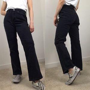 Vintage • Lee High Rise Black Jeans